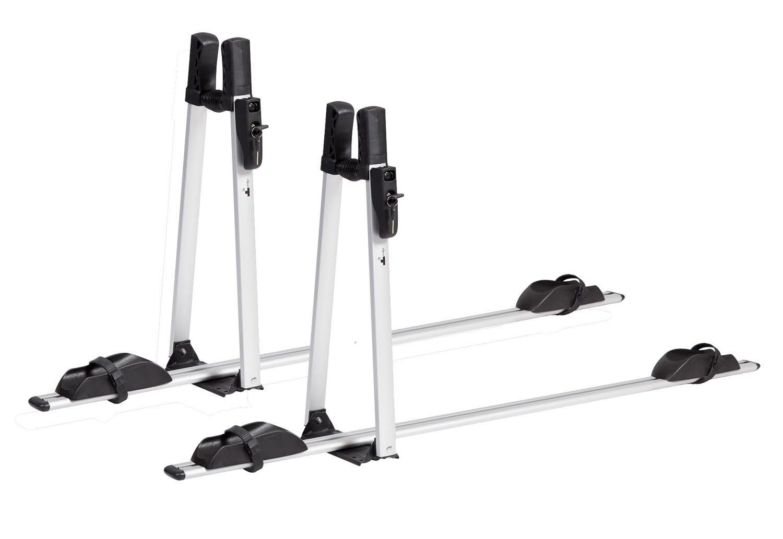 2 x bike carriers lockable VDP premium aluminium roof bicycle rack