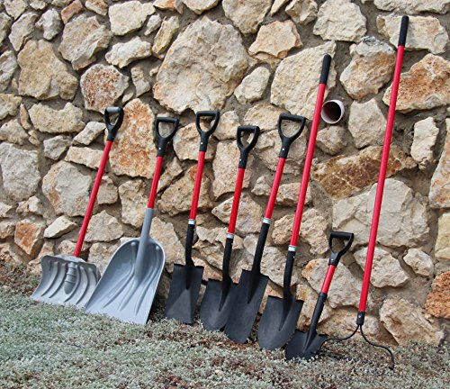 TABOR TOOLS J213 Trench Digging Spade, Drain Spade, Shovel with Long Narrow Blade and and Comfortable D-Grip 31'' Fiberglass Handle (Trench Shovel) by TABOR TOOLS (Image #2)
