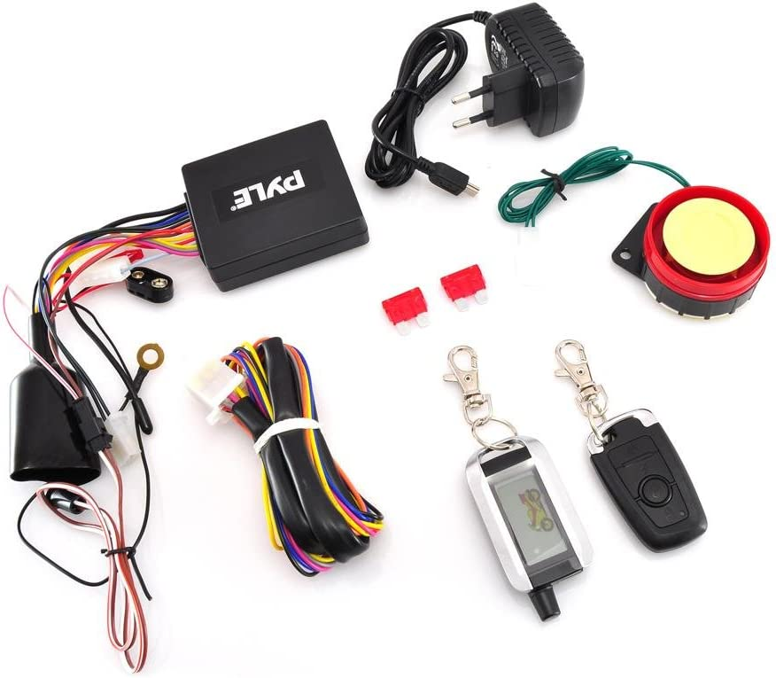 Anti Theft Security System Pyle Upgraded WatchDog Motorcycle  Alarm PLMCWD75 Auto Re-Arm Remote Auto Start ECU Transmitter High Power Speaker