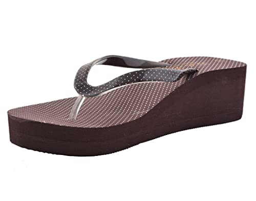 cc38065cb005 Lil Firestar Women s Casual Flip Flops Wedges   Platform Heel  Slippers Brown 35EU  Buy Online at Low Prices in India - Amazon.in