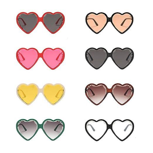 Amazon.com: Alonea Heart Sunglasses, Vintage Cat Eye Heart Shape Big ...