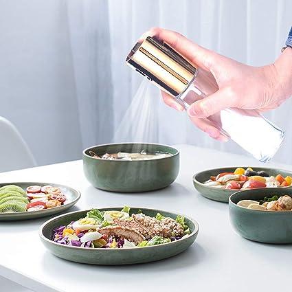 Dispensador de aceite de oliva dispensador de aceite botella de vidrio transparente 100 ml para cocina, barbacoa, ensaladas, cocinar, hornear, asar ...