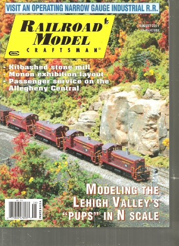 (Railroad Model Craftsman Magazine (Modeling the Lehigh Valley's Pups In N Scale, August 2011))