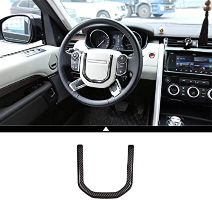 Carobon Fiber Style ABS Plastic Navigation GPS Panel Decoration Frame For Discovery Sport Car Accessories