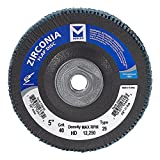 Mercer Industries 336H040 Zirconia Flap Disc, High Density, Type 29, 5'' x 5/8''-11, Grit 40, 10 Pack
