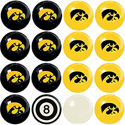 Image of Billiards Imperial Officially Licensed NCAA Home vs. Away Team Billiard/Pool Balls, Complete 16 Ball Set