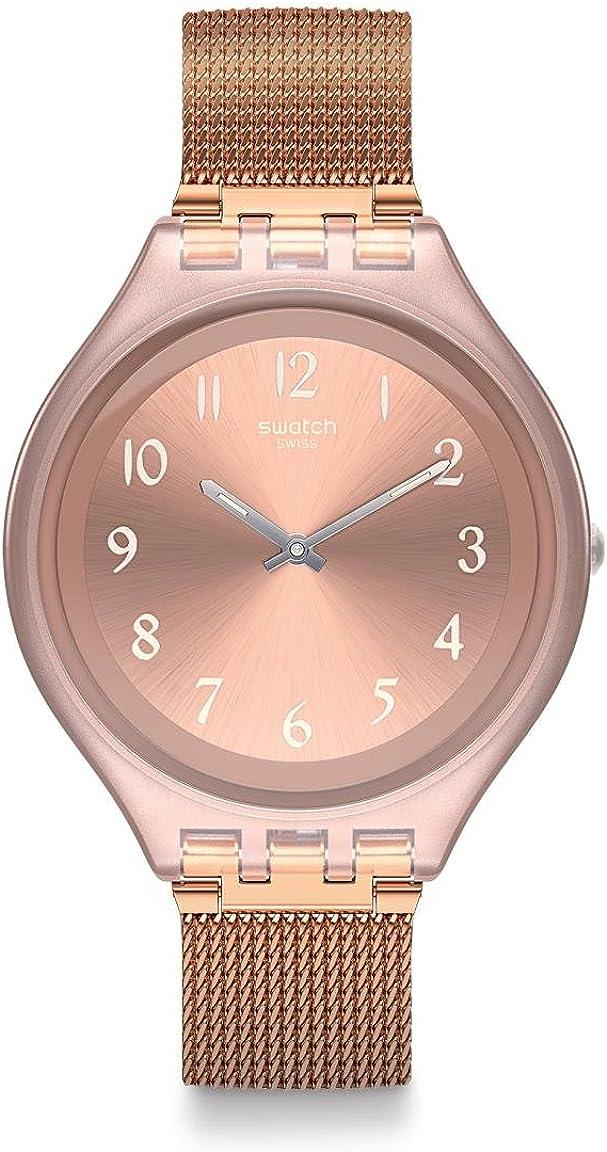 Swatch Skin Quartz Movement Pink Dial Ladies Watch SVUP100M