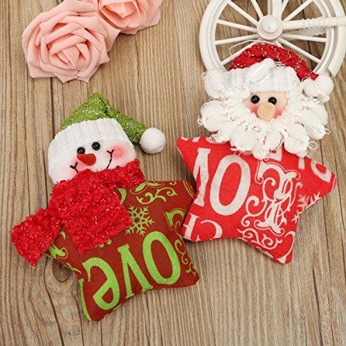 [Christmas Tree Hanging Ornament Santa Clau Snowman Pendant Doll Christmas Decoration(Random:] (Masked Bandit Costume)