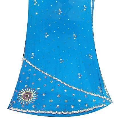 Indio Vintage sari utilizado crafted material reciclado de costura bordado tela 5yd saree vestido wrap