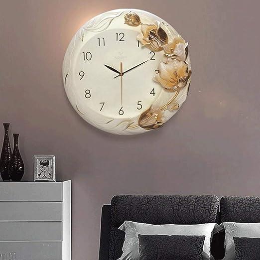Amazon.com: YHEGV Wall Clocks Muebles para el Hogar Relojes of Moda Crea Tivos Reloj De pared Relojes Three-Dimensional Arte de alivio of reloj de cuarzo ...