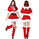 【 本格的 】monoii サンタ コスプレ 女性 可愛い サンタコス 仮装 セクシー サンタクロース 衣装 コスチューム レディース 576