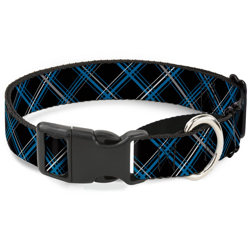 Buckle Down Plaid Black/Red Martingale Dog Collar