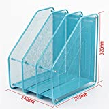 CHAOYANG Multifunction Magazine Holder File Rack,Office Storage Desktop Shelf File Dividers Cabinet Document Tray Organiser Box。 (Color : Blue)