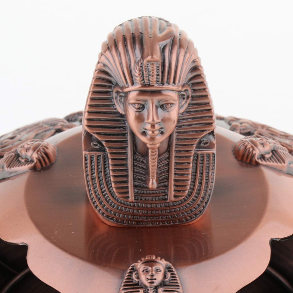 easy to use and clean Made of zinc alloy Vintage style as described Copper Almencla Egyptian Pharaoh Ashtray