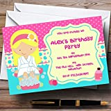 Makeover Nail Spa Theme Personalized Birthday Party Invitations
