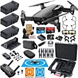 DJI Mavic Air Fly More Combo (Onyx Black) with 3 Batteries, Bundle Kit with Rugged Carrying Case & MUST HAVE Accessories