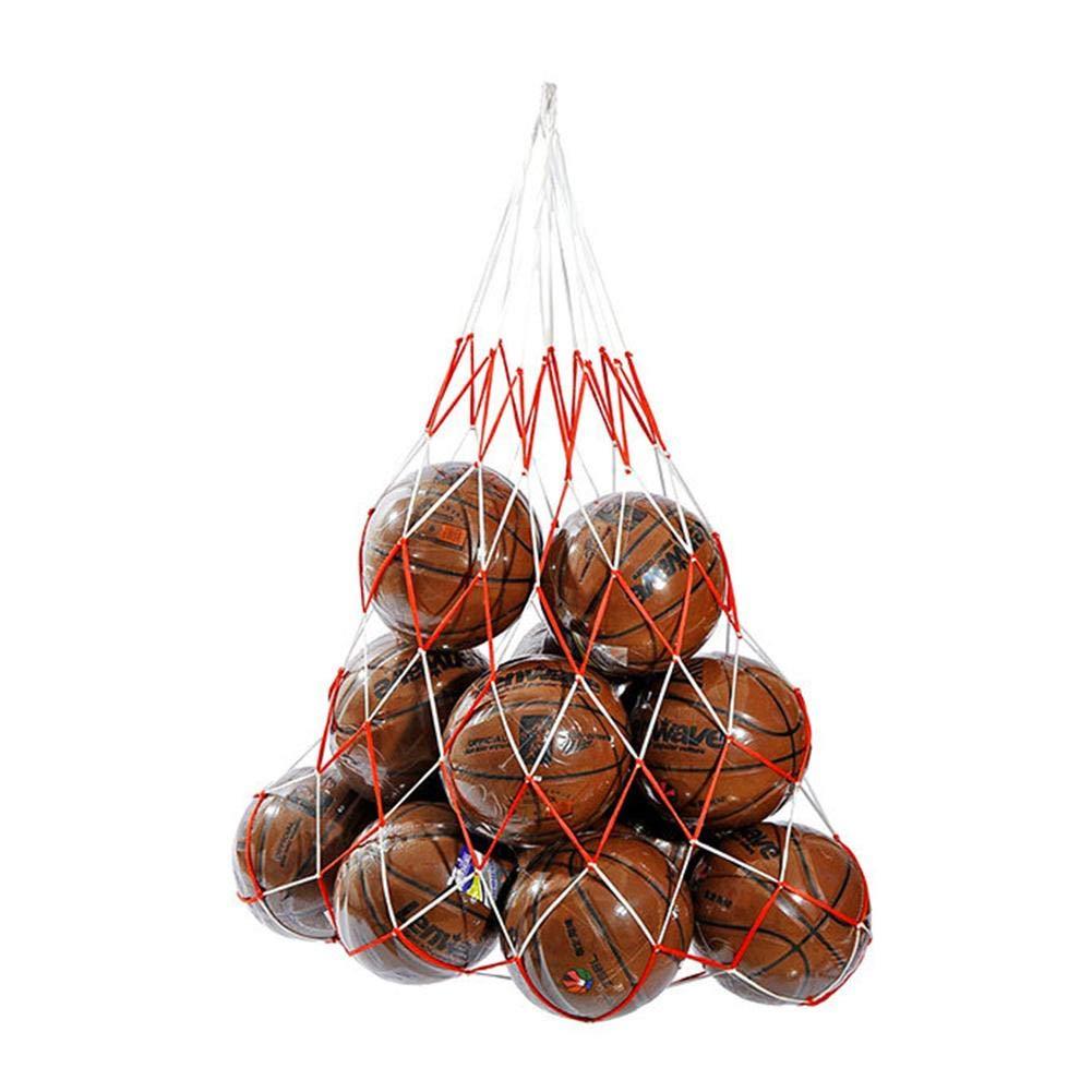 QueenHome Mesh-Ausr/üstungstasche mit Mesh-Balltasche Ballbag Gro/ße Kapazit/ät f/ür 20 Fu/ßball-B/älle-Rucksack f/ür Fu/ßballball Basketball Perfekte Mesh-Tasche f/ür Eltern oder Trainer