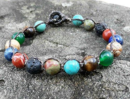 Turquoise bracelets,multi color stone bracelets,bracelets for men and women