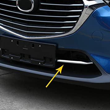 HOTRIMWORLD ABS Chrome Rear Fog Light Trim Cover 2pcs for Honda Civic 2016-2019
