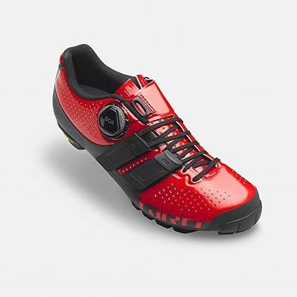 Giro 2019 Sica Techlace - Zapatillas de Ciclismo para Mujer, Color Rojo y Negro,