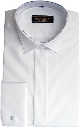 BEYTNUR - Camisa de vestir - para hombre blanco blanco 43 cm
