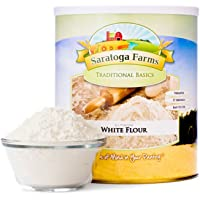 Saratoga Farms White Flour, #1 Emergency Food Storage, 57 Servings with a 10-20 Year Shelf-Life in #10 Can (Save More with 2,3,4, or 6 Pack)