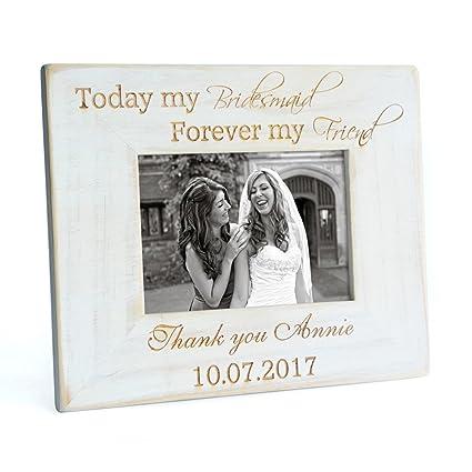 Amazon.com - Custom Vintage Bridesmaid Picture Frame, Bridesmaid ...