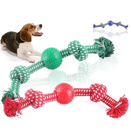 Accesorios para perro, nudo doble para mascota con pelota para ...