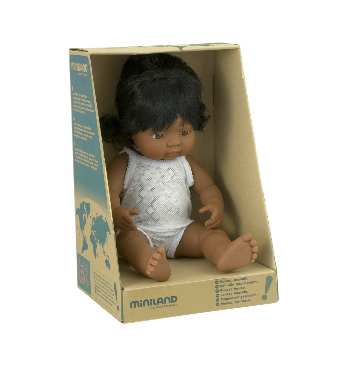 Amazon.com: Miniland Baby Doll Latinamerican Girl (38 Cm, 15\