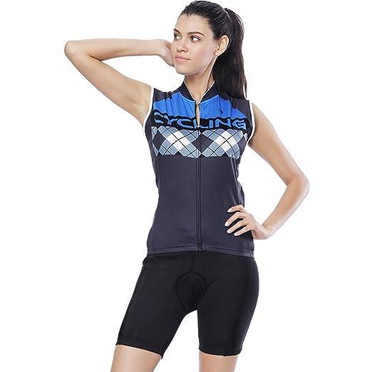 YGBH Ciclismo Jersey Conjunto de Mujer Traje Pantalones Cortos ...