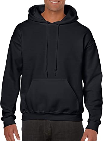 1 Kiwi Gildan G18500 Heavy Blend Adult Unisex Hooded Sweatshirt XL 1 Black