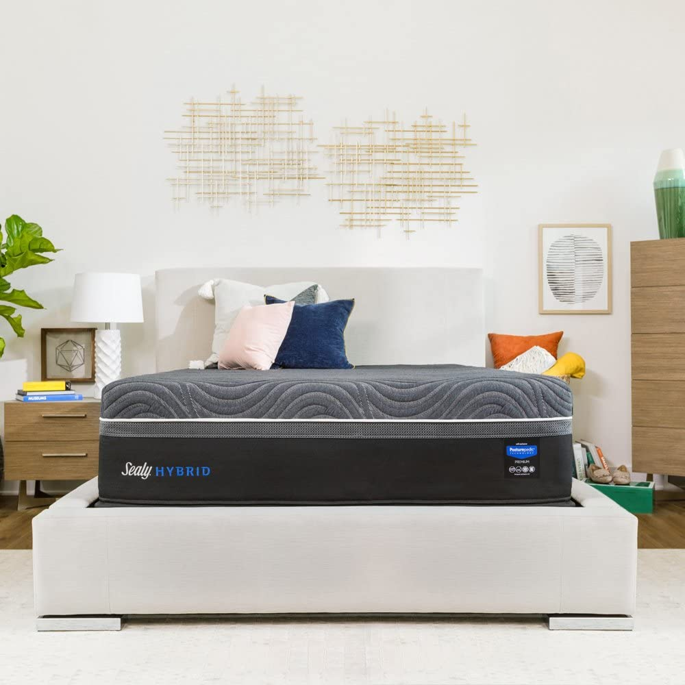 Sealy Premium Silver Chill 14-Inch Plush Cooling Mattress, King, Made in USA, 10 Year Warranty