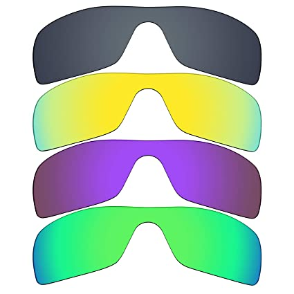 15a3c695f0f Image Unavailable. Image not available for. Color  Mryok 4 Pair Polarized  Replacement Lenses for Oakley Batwolf Sunglass - Black IR 24K Gold