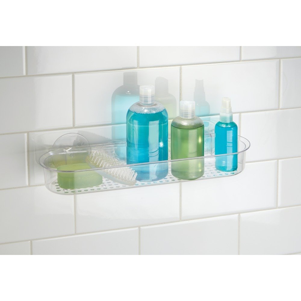 AquaKin Suction Cup Shower Caddy Basket -Stainless Steel Shelf for ...