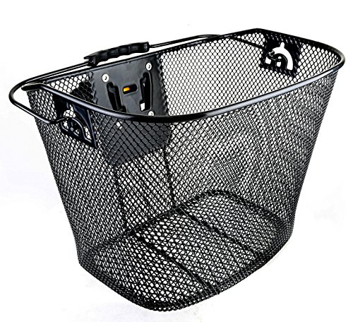 Bicycle Bike Front Basket Wicker with Quick Release (Ladies Bicycle With Basket)