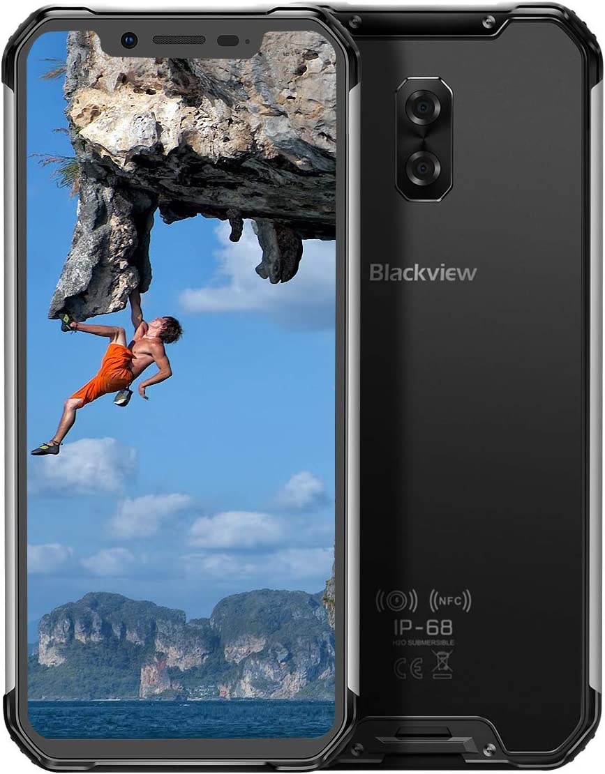 """Blackview BV9600E (2020) Rugged AT&T Cell Phones Unlocked, 4GB+128GB Helio P70 Octa-Core Android 9.0 Rugged Phones, 6.21"""" FHD AMOLED Screen, 5580mAh Battery 16MP Cameras 4G Global Version NFC Phones"""