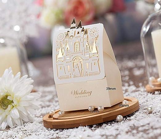 Amazon.com: wishmade 50pcs laser cut Caja de cajas de boda ...