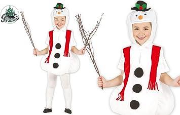 GUIRMA 42509 - Disfraz de muñeco de Nieve, Color Blanco, 3-4 años