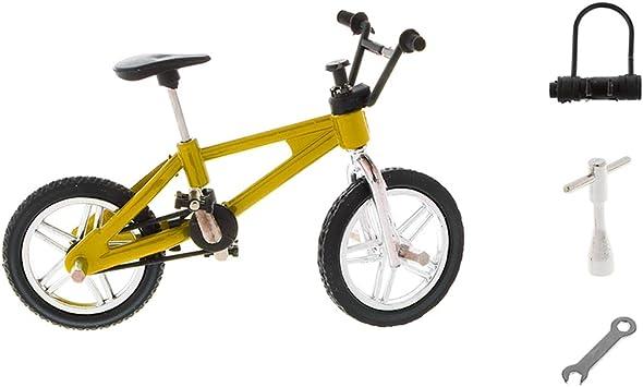 Fenteer 1:24 Modelo de Mini Bicicleta Diecast de Dedo de Aleación ...