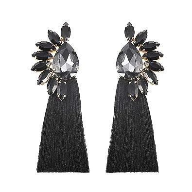 e045a49f8 BEST LADY Crystal Tassel Earrings for Women - Statement Colorful Figure  Fringe Dangle Earrings for Women