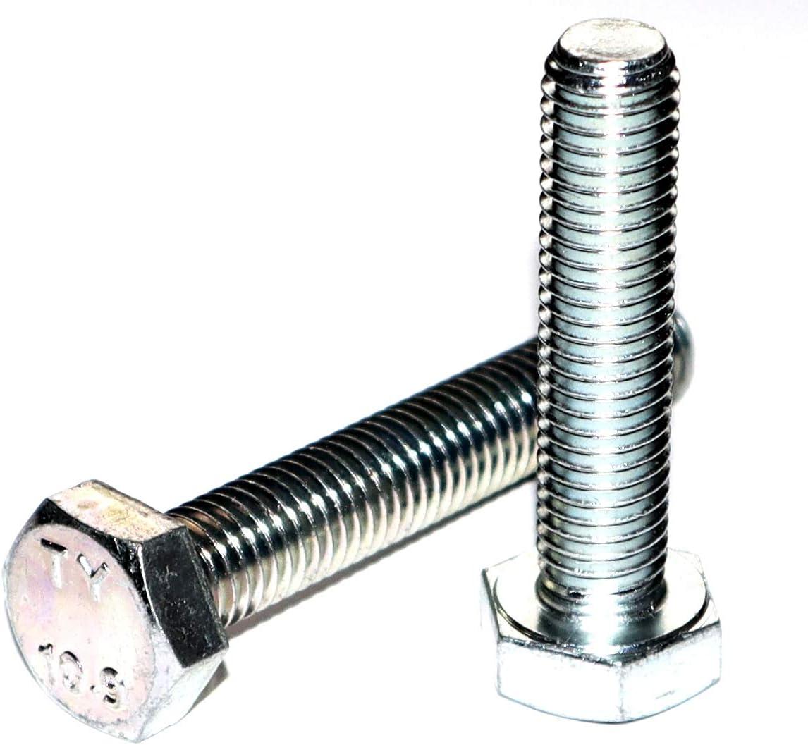 Sechskantschraube M6x10 DIN 933 St/ückzahl 5 Stahl galvanisch verzinkt Festigkeitsklasse 10.9 Gewinde bis zum Kopf