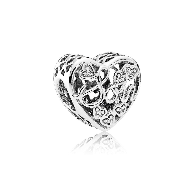 Pandora Women Silver Bead Charm - 792109CZ QyiikBltT