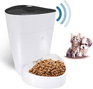 Automatic Cat Feeder, 4L WiFi Smart Pet Feeder, Programmable Timer Dog Cat Food Dispenser, 1-8 Meals Per Day Controlled by iPhone & Android|Suit for 2.4Ghz