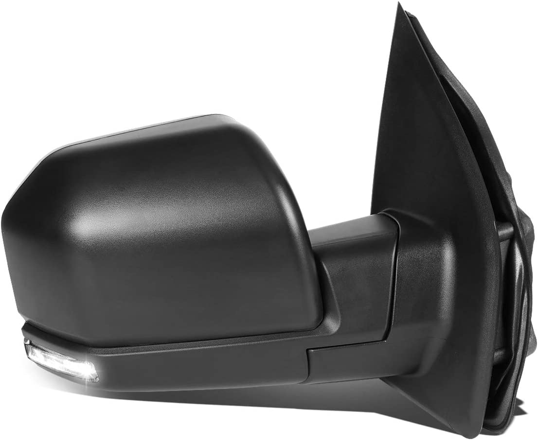 DNA MOTORING TWM-058-OE-T888-BK-CL-R Powered+Heated+LED Signal Factory Style Side Mirror Right for 15-18 Ford F150