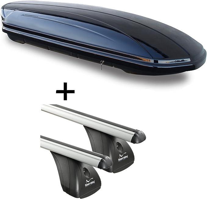 Dachbox Vdpmaa320 320ltr Abschließbar Schwarz Alu Dachträger Aurilis Original Kompatibel Mit Ford S Max 5türer 2006 2015 Auto