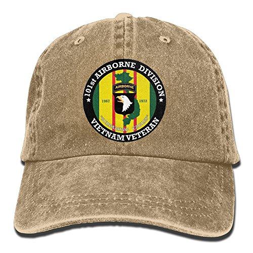 Dkvmkrvla 101st Airborne Division Vietnam Veteran Adjustable Baseball Caps Denim Hats Cowboy Sport Outdoor