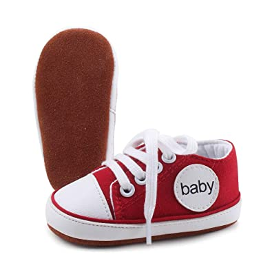 ce63ab2016214 Amazon.com | OOSAKU Lace up Toddler Baby Shoes Infant Shoes Boy Girl ...