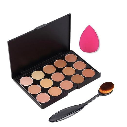 68 opinioni per Boolavard 3pcs / set Professionale 15 colori Concealer Makeup Cream Primer +