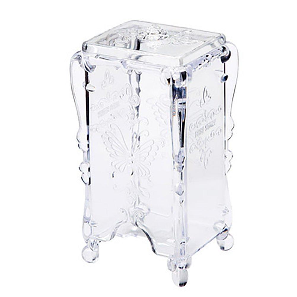 Demarkt Retro Cotton Pads Dispenser Plastic Cotton Bud Holder Cosmetic Organizer Storage(White)