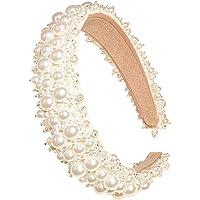 AllRing Pearl Hoofdbanden voor dames en dames, witte hoofdband, hoofddeksel, hoofdtooi, bruiloft, haarsieraad, bling…